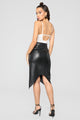 We Run The Night Faux Leather Skirt - Black