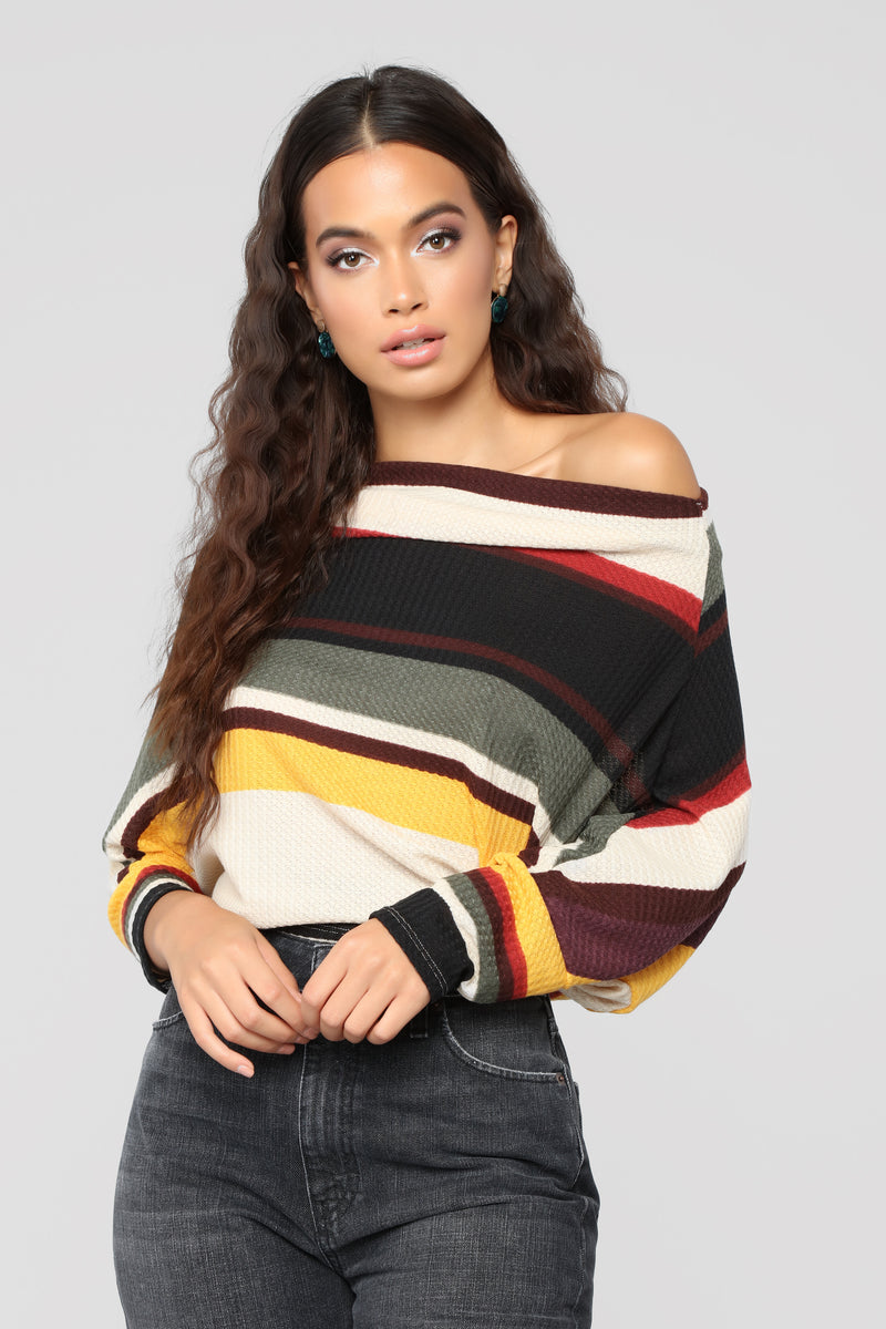 Andi Striped Long Sleeve Top - Multi