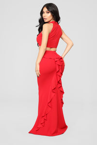 Hopeless For You Skirt Set - Red