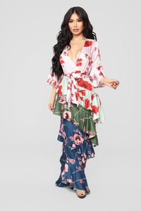 Only Top Tier Chiffon Maxi Dress - Multi