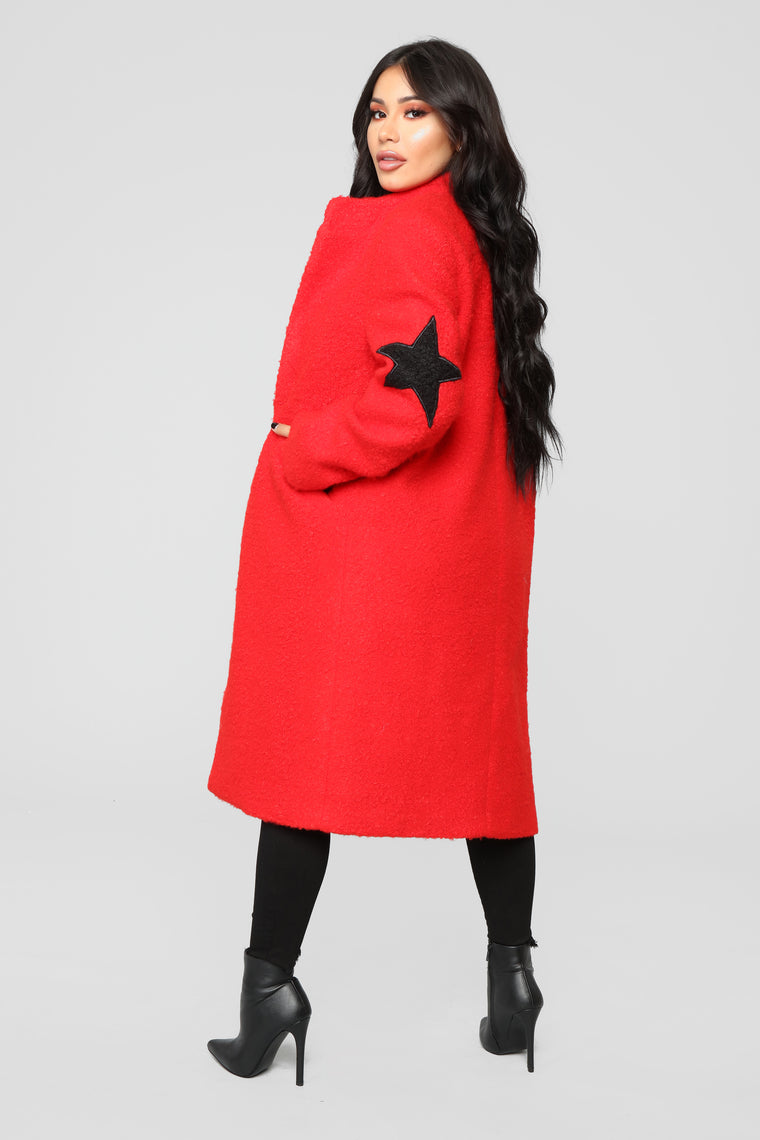 Act Like A Star Coat - Red