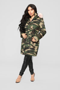 Oh Baby Utility Jacket - Camo/Pink