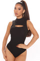Cindy Turtleneck Bodysuit - Black