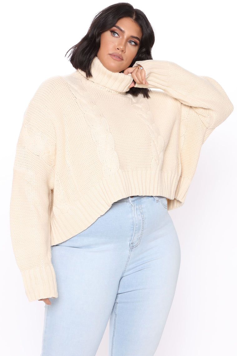 Finders Keepers Cable Knit Sweater - Cream