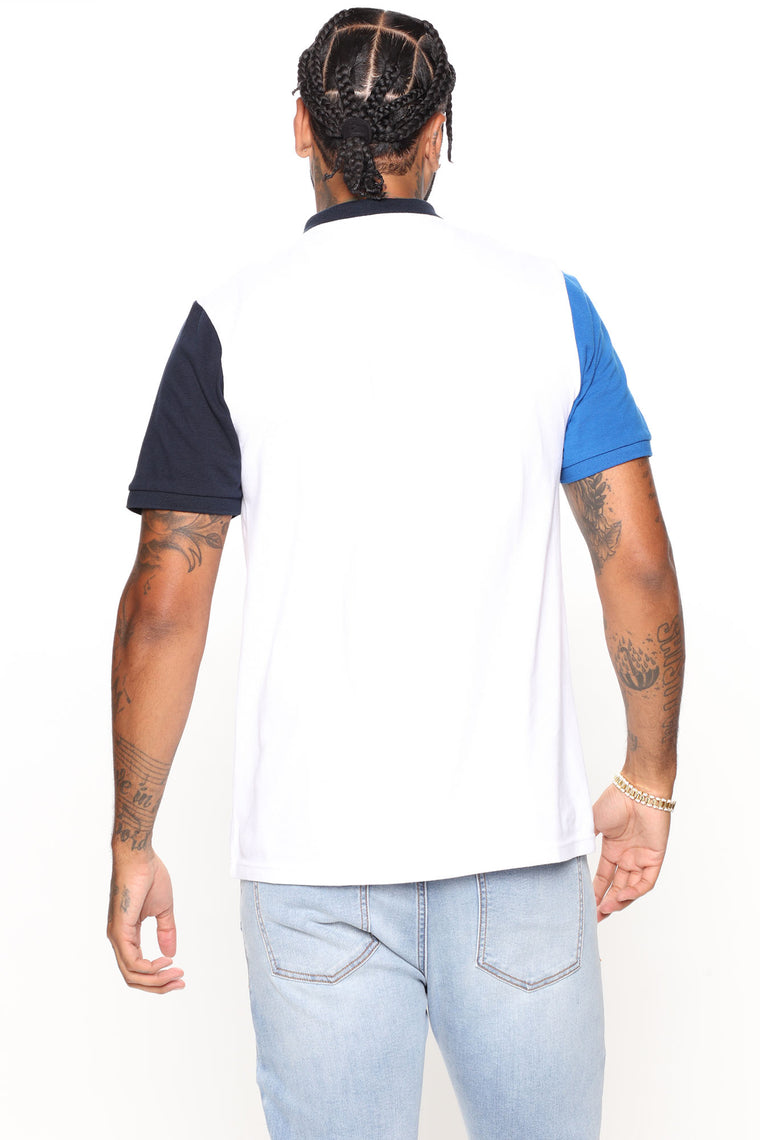 Get Up Short Sleeve Polo Shirt - White/Blue