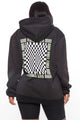 Lost In The Vibes Oversize Hoodie - Black