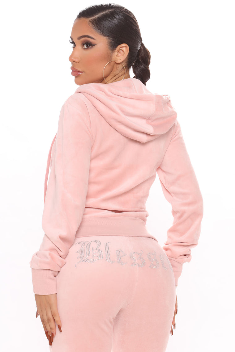 The Original Trendsetter Blessed Velour Set - Mauve
