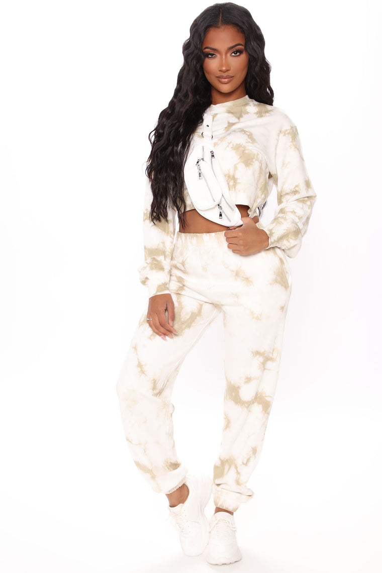 Change With The Seasons Tie-Dye Pullover - Taupe/combo