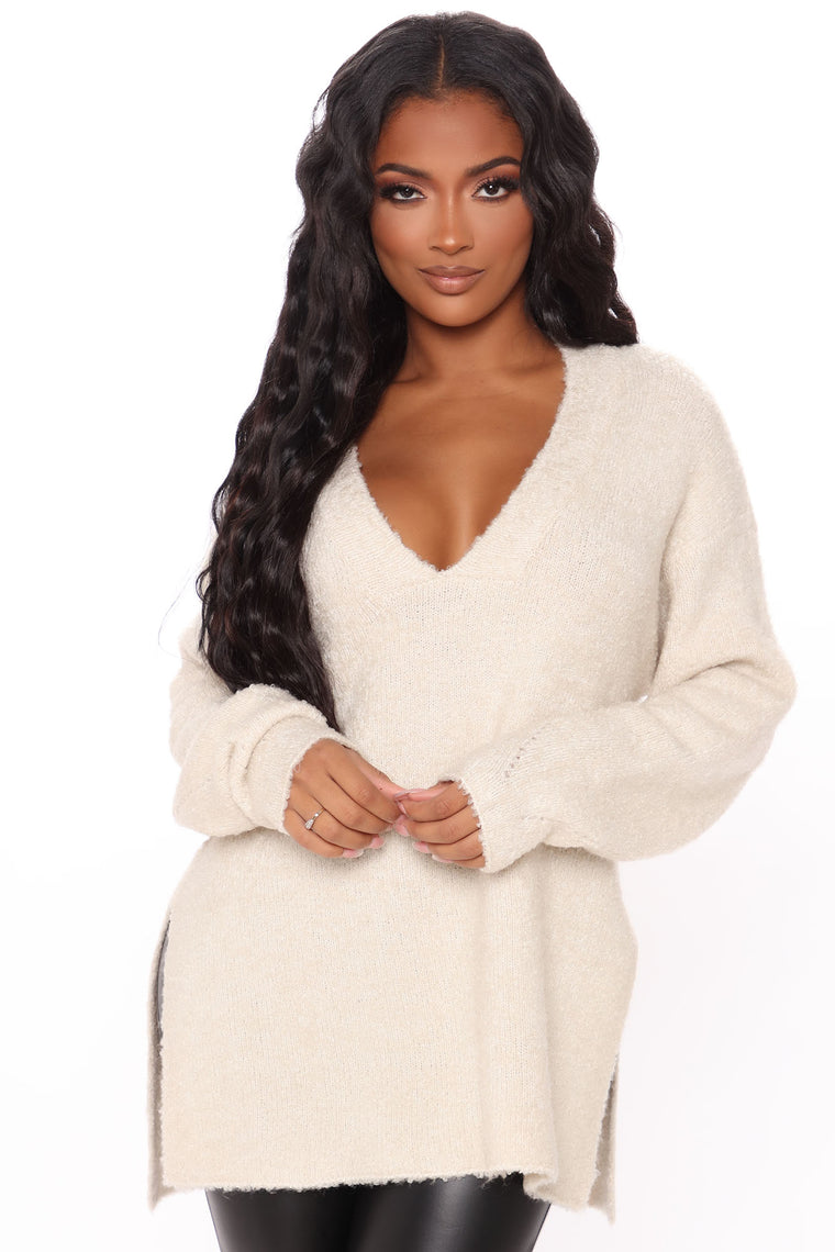 Get Your Knit Together Oversized Sweater - Alpaca