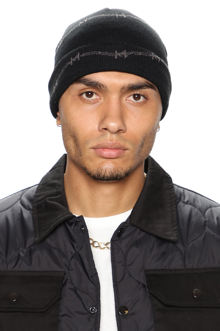 Barbed Wire Beanie - Black