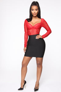 Not Like Other Girls Bandage Mini Skirt - Black