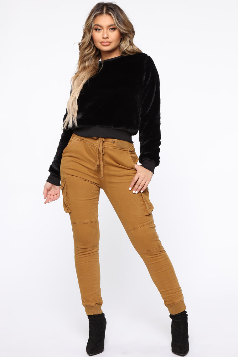 Stay In Your Lane Cargo Pant   Camel by Fashion Nova