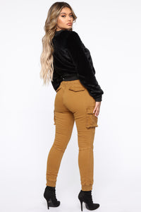 Stay In Your Lane Cargo Pant - Camel