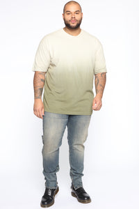 Came Through Dipping Short Sleeve Tee - Olive Angle 7