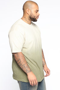 Came Through Dipping Short Sleeve Tee - Olive Angle 8