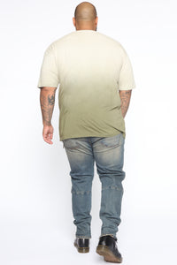 Came Through Dipping Short Sleeve Tee - Olive Angle 10