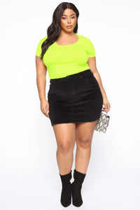 Monica Scoop Neck Top - Neon Green