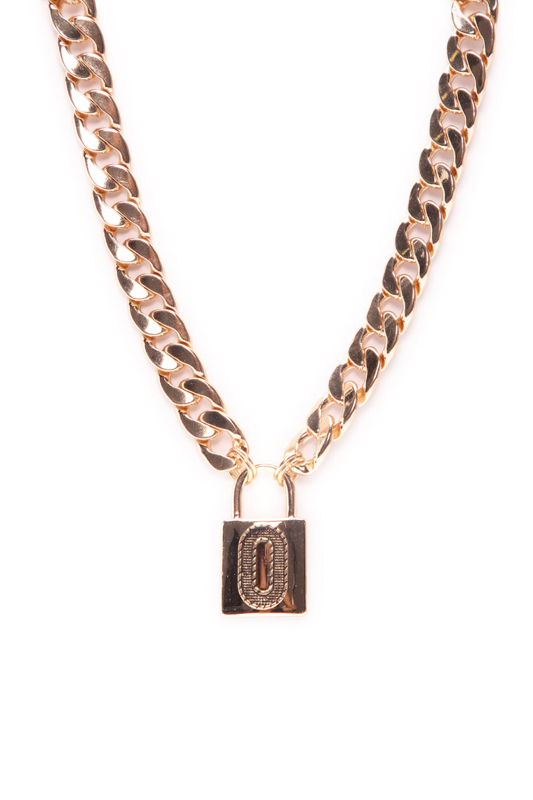 Can't Have My Number Necklace - Gold