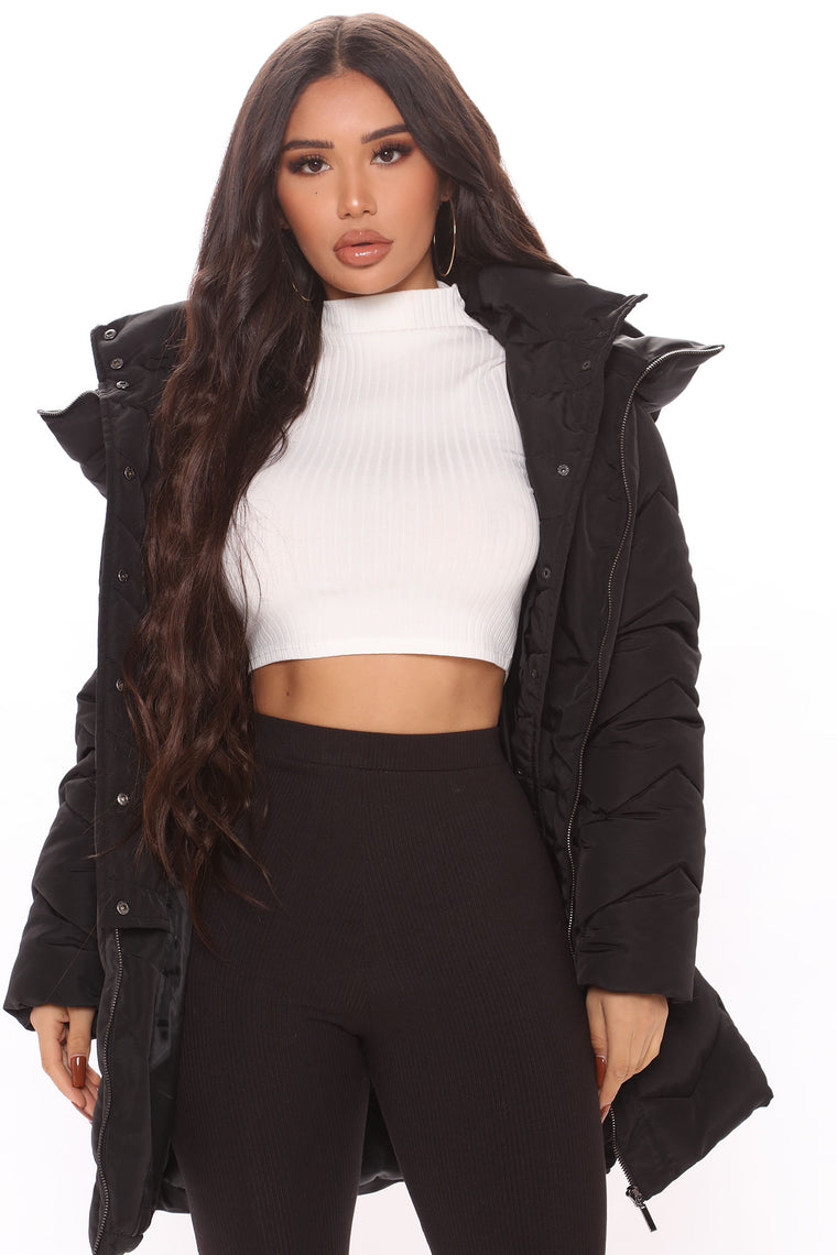 That Warm Feeling Puffer Coat - Black