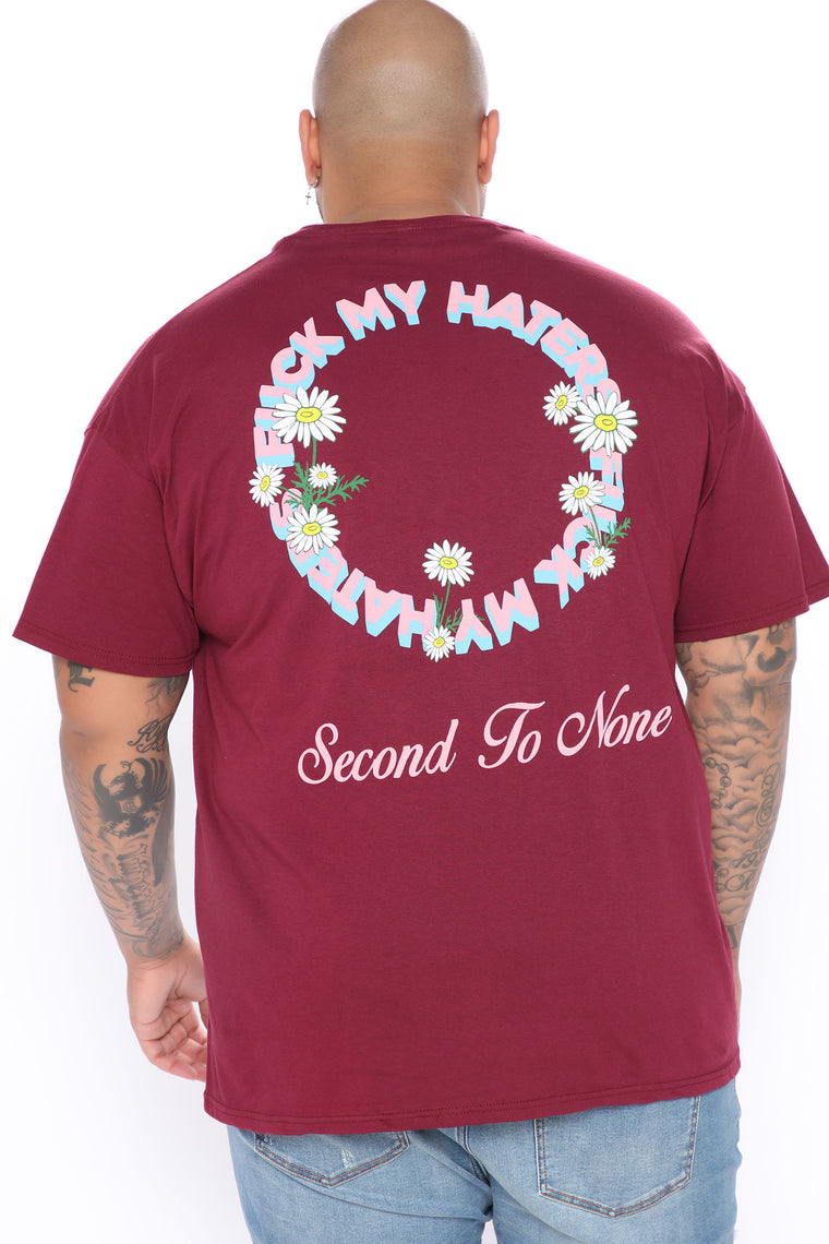 Fuck My Haters Short Sleeve Tee - Burgundy