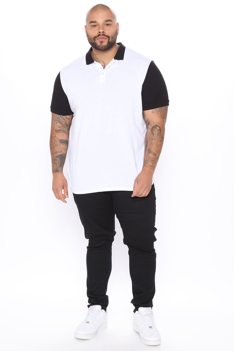 Around The World Short Sleeve Polo - Black/White