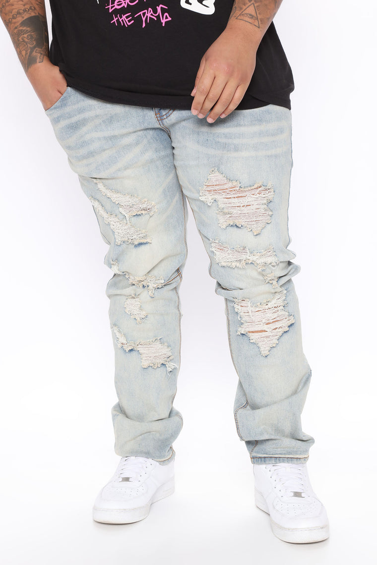 Lorenzo Skinny Jean - Light Blue Wash