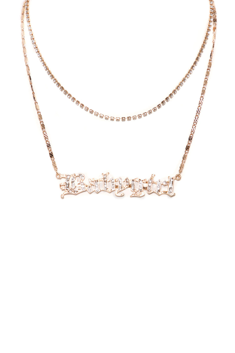 Call Me Babygirl Layered Necklace - Gold