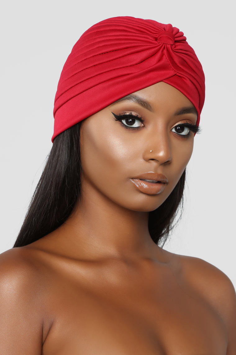 Love Me Knot Turban - Red