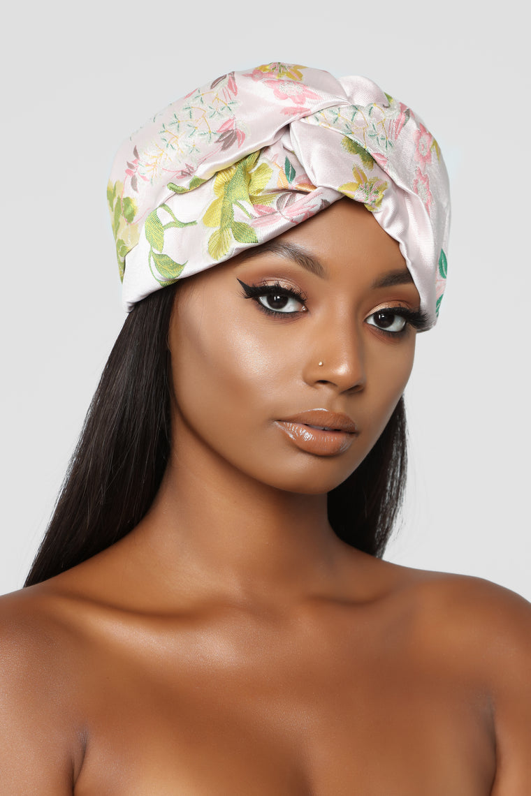 Power Sunflower Head Wrap - Pink