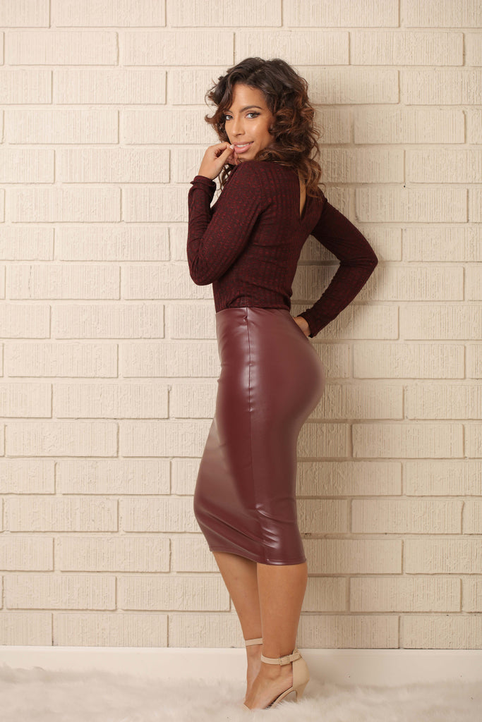 Franklin Bodysuit - Burgundy