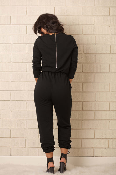 On the Run Jumpsuit - Black