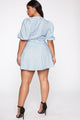 Mo Mimosas Mini Dress - Blue/Black