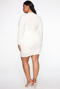 Casually Legendary Mini Dress - Off White Angle 6
