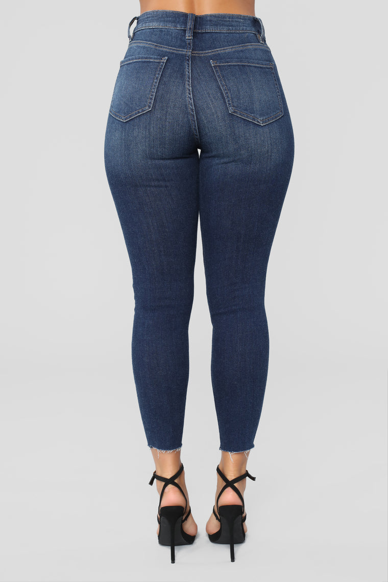 Can't Stop Ankle Jeans - Dark Denim