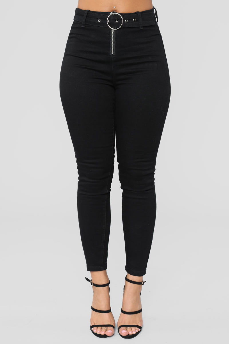 Ring My Alarm High Rise Jeans - Black