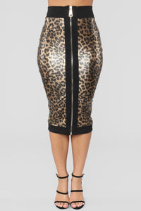 Stay With Me Tonight Skirt - Leopard