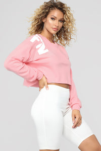 My Best FN Life Sweatshirt - Dusty Pink