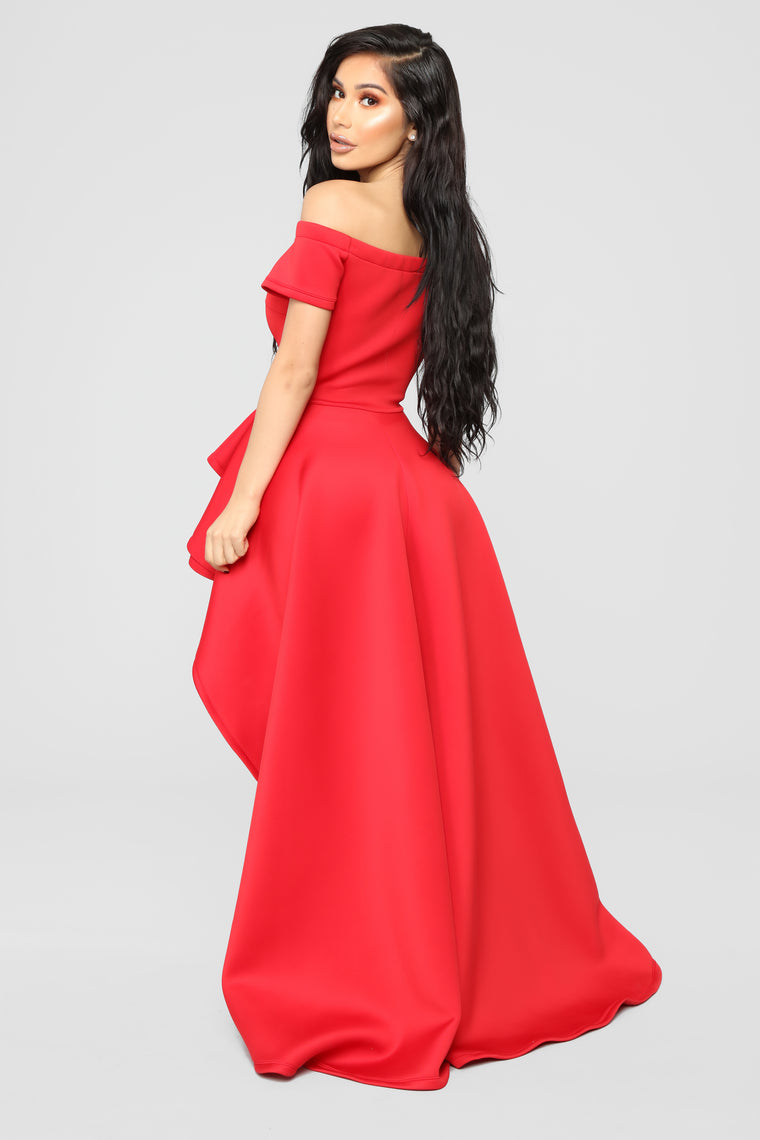 Redeeming Love High Low Dress - Red