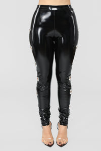 Voodoo Patent Leggings - Black Angle 4