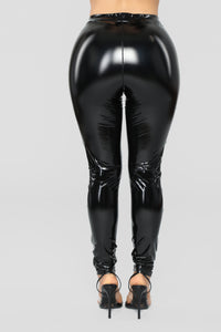 Voodoo Patent Leggings - Black Angle 6