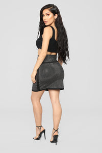 Brighter Than The Future Rhinestone Skirt - Black Angle 6