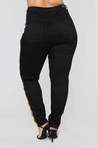 Changing Times Sequin Pants - Black/combo Angle 6