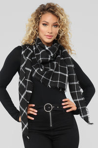 Plaid Is Rad Scarf - Black