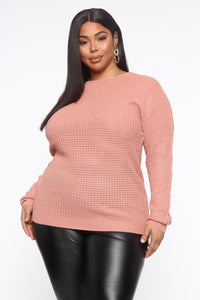 Thinking Of Him Sweater - Mauve Angle 1