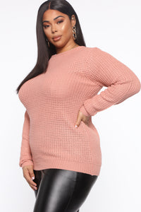 Thinking Of Him Sweater - Mauve