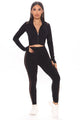 Gym Stunner Active Crop Jacket - Black