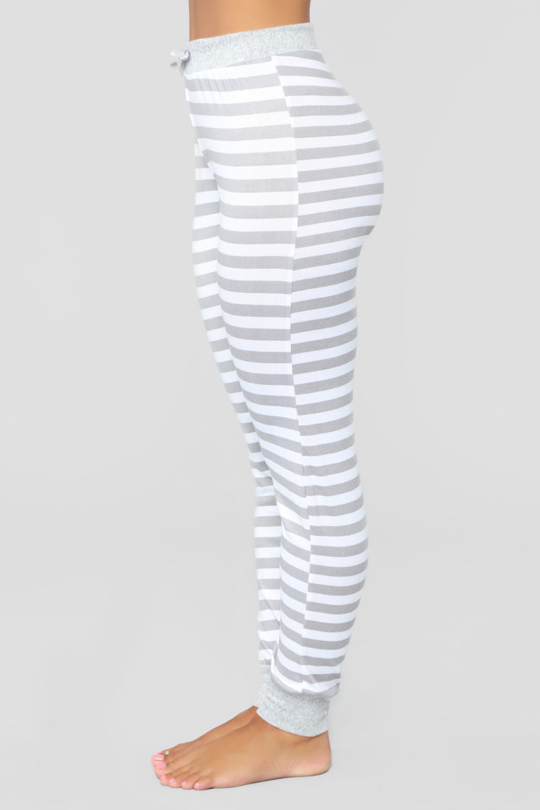 Kimberly Stripe PJ Jogger - Grey