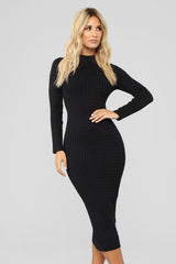 its-been-awhile-dress---black by fashion-nova