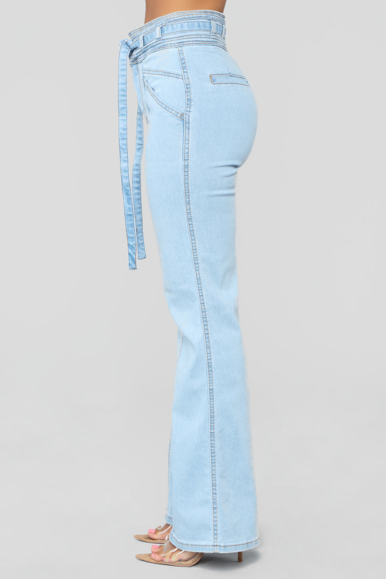 Feel the Funk Bell Bottom Jeans - Medium Blue Wash
