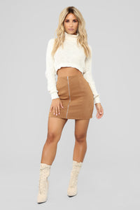 Fall For You Corduroy Skirt - Camel Angle 2
